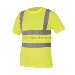 Tricou clasic cu dungi reflectorizante