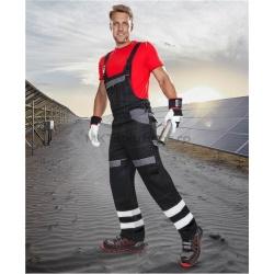 Pantalon cu pieptar CT elemente reflectorizante